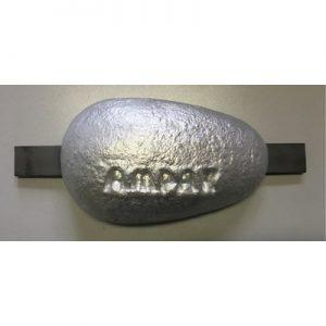 Aluminium anode 1,3kg met lasstrip