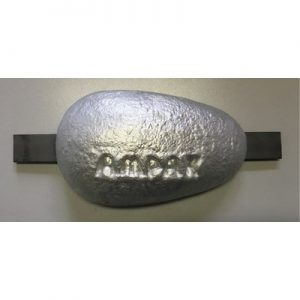 Aluminium anode 0,3kg met lasstrip