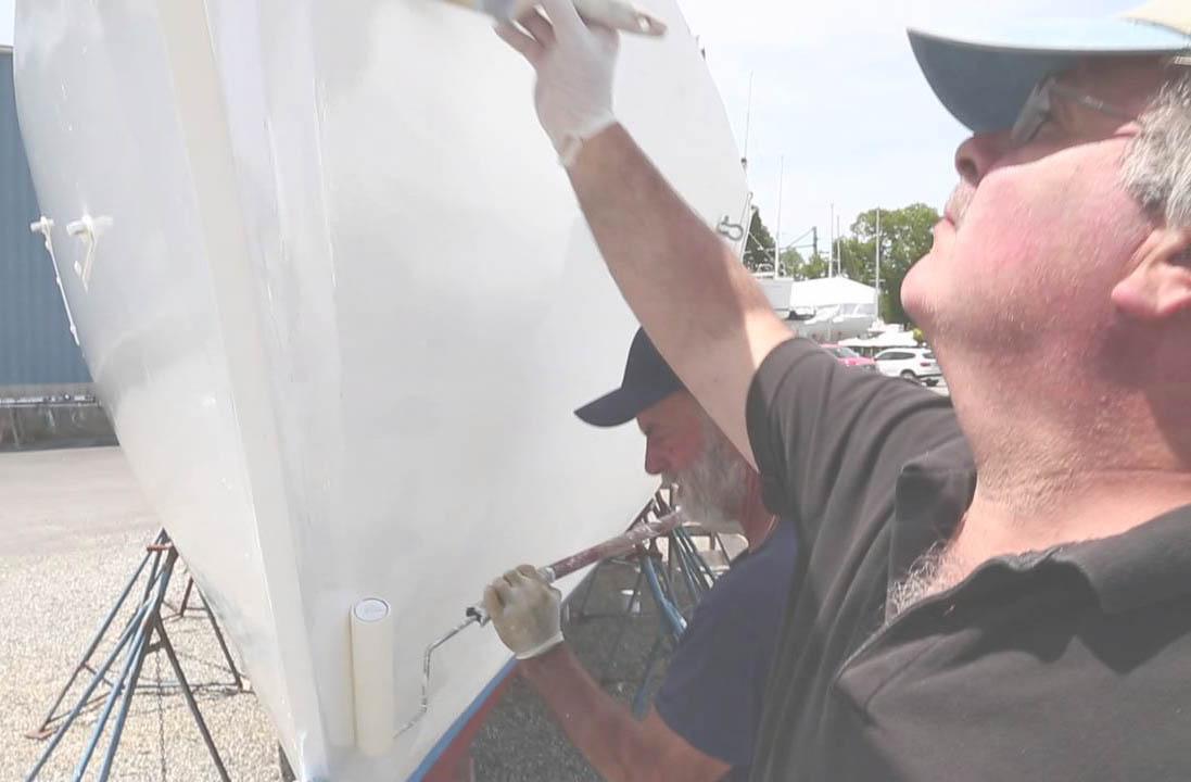 Polyester boot zelf schilderen