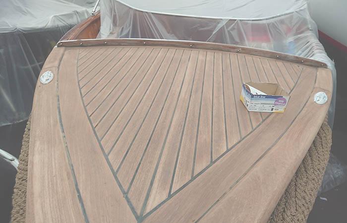 scheepsbetimmering houten boot