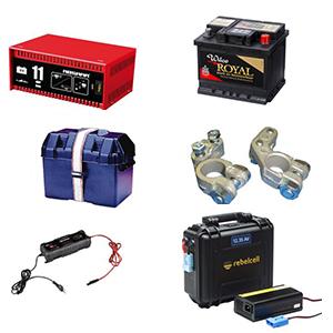 Accu's, batterijen en toebehoren